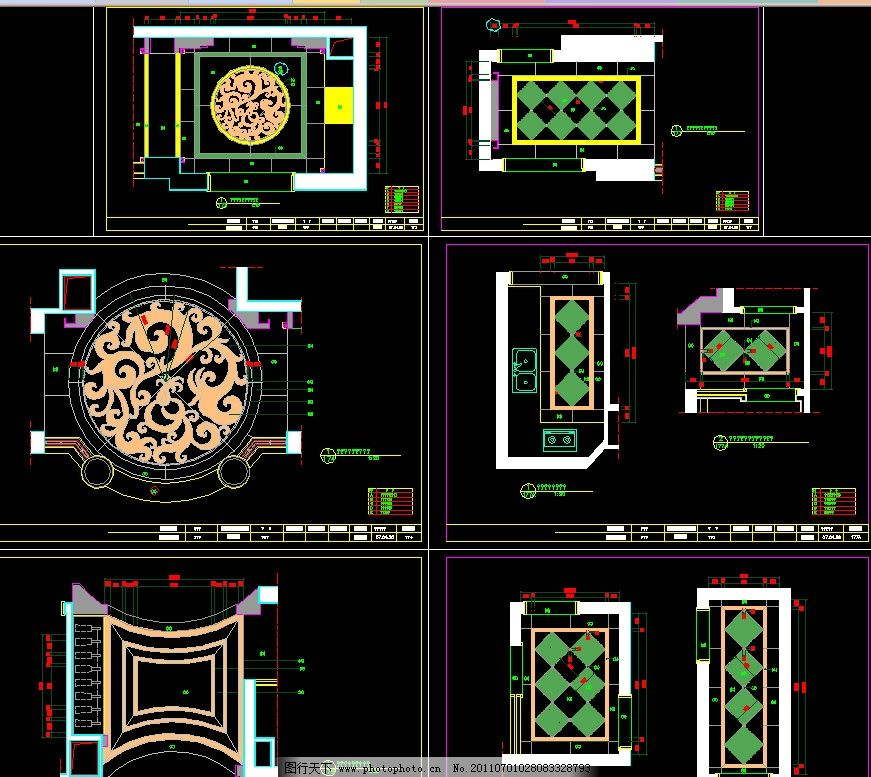地花设计图 图纸 平面图 装修 装饰 施工图 室内设计 复式住宅