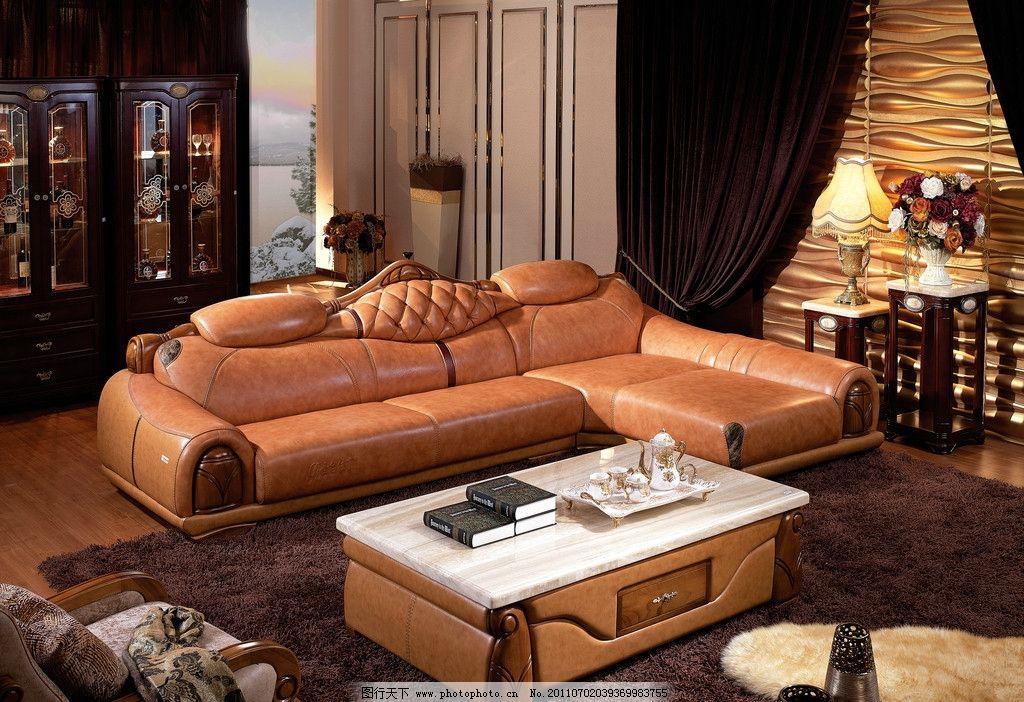 家具产品 沙发 背景 空间 茶几 装修 家居 皮沙发 室内摄影 建筑园林