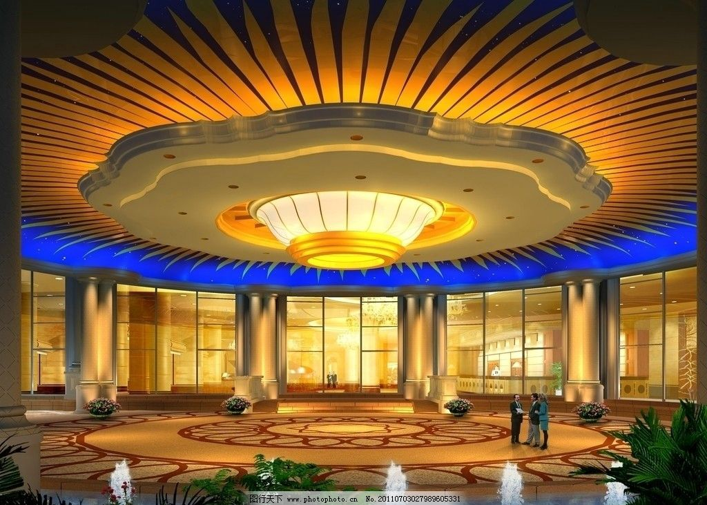 酒店大门口效果图 酒店 大门 雨棚        华丽 3d 庄华 室内设计