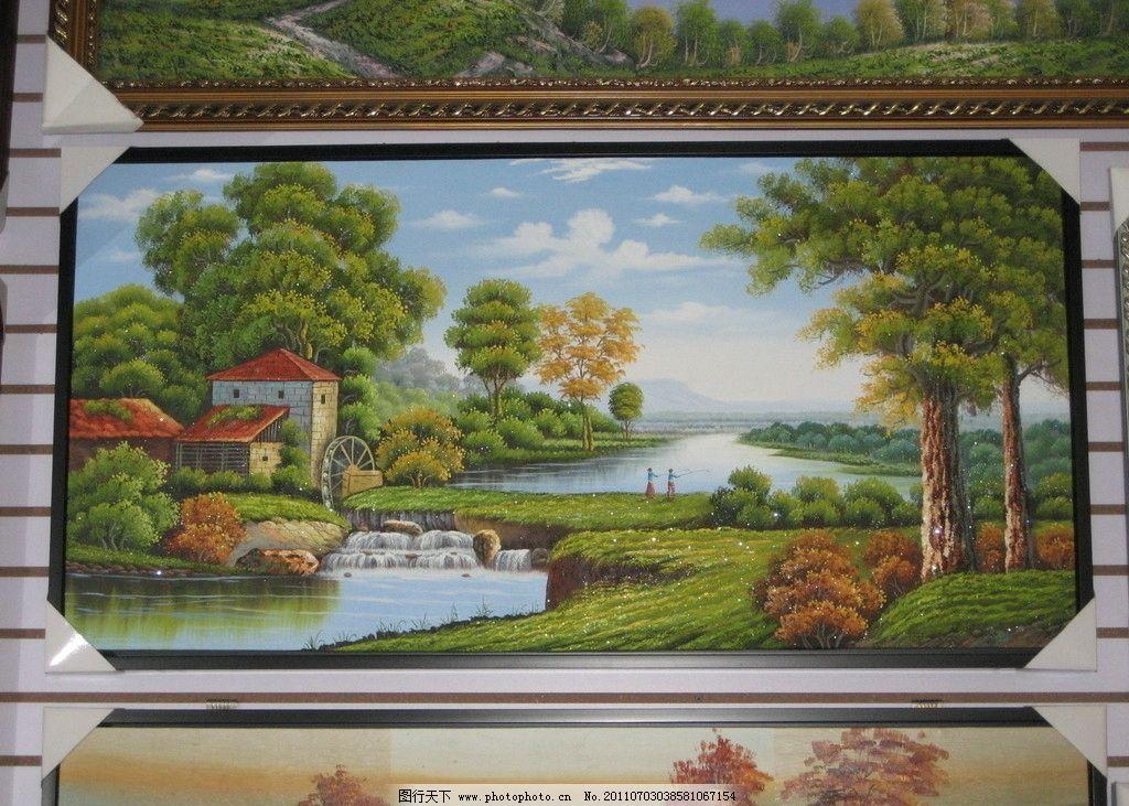 鄉村人家 十字繡 風景 攝影
