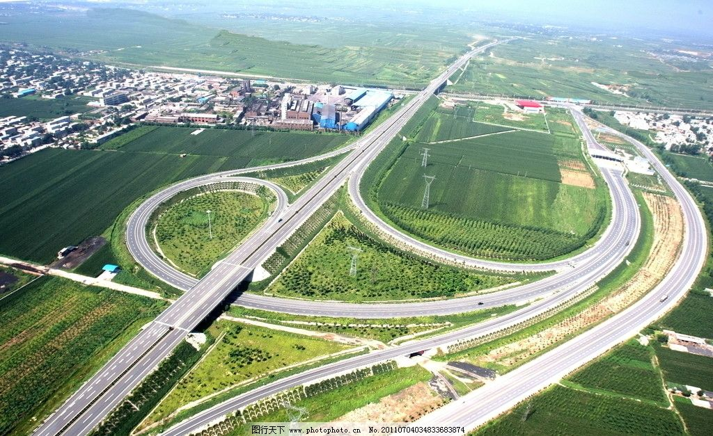 高速公路 高速 公路 立交桥        建筑 天空 透视图 环境设计 绿化