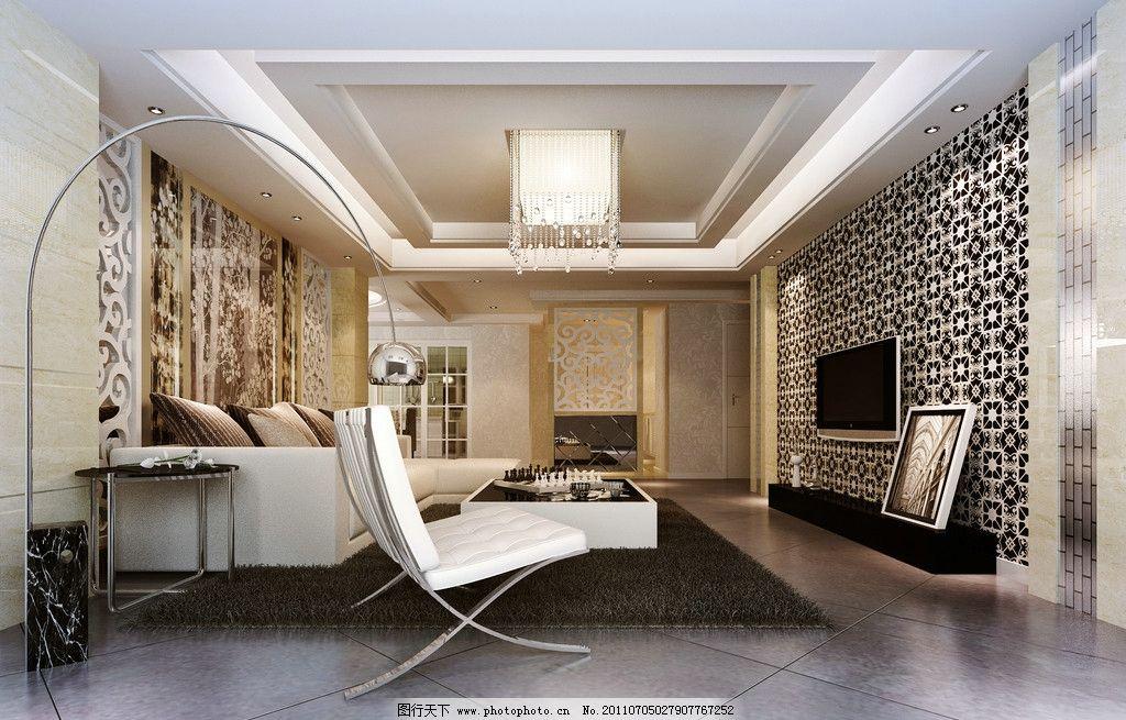 客厅效果图 室内设计 沙发 干支 电视 屏风 法式风格 环境设计 设计 7
