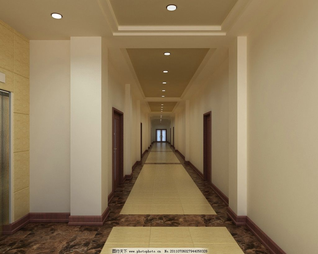 走廊 公司走廊 宾馆走廊 室内设计 环境设计 设计 72dpi jpg