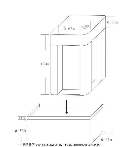 陈列柜平面效果图 堆头 陈列柜 展柜 平面        广告设计 矢量 cdr