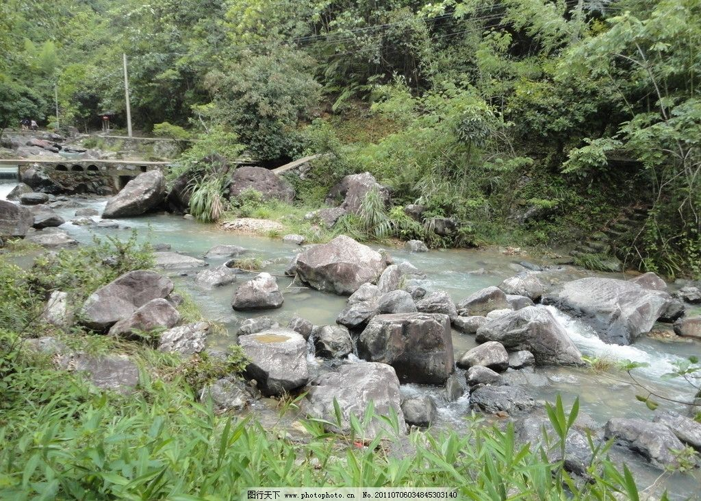 细水长流 潮州 幽谷逸林 自然风景 山水风景 青山 绿水 春天 树木