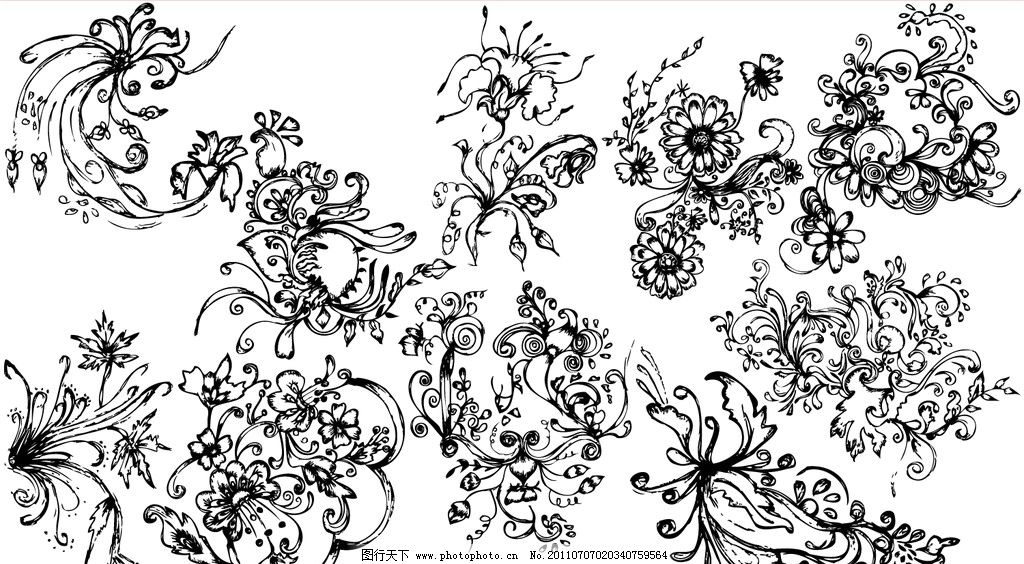 手绘花纹 手绘古典花纹 欧式花纹 欧式古典花纹 古典花纹花边底纹