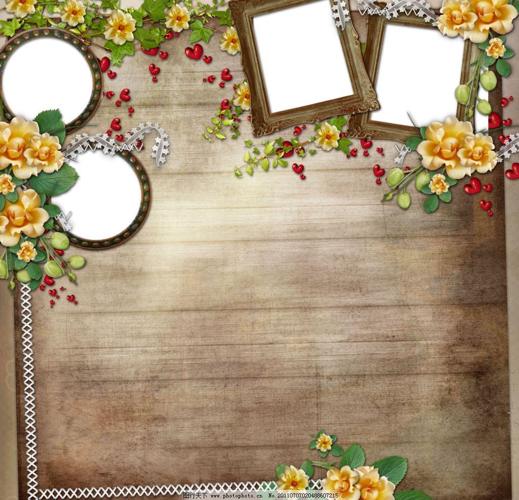 生日相框相片设计模板图片_边框相框_底纹边框_图行