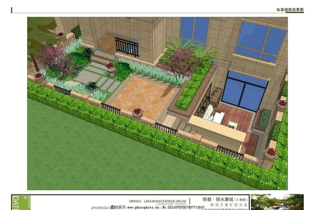 鸟瞰图 室外效果图 园林规划 树 道路 大厦效果图
