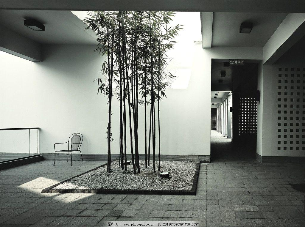 中式别墅 中式风格 中式建筑 中庭 院子 院落 庭院 中式庭院图片