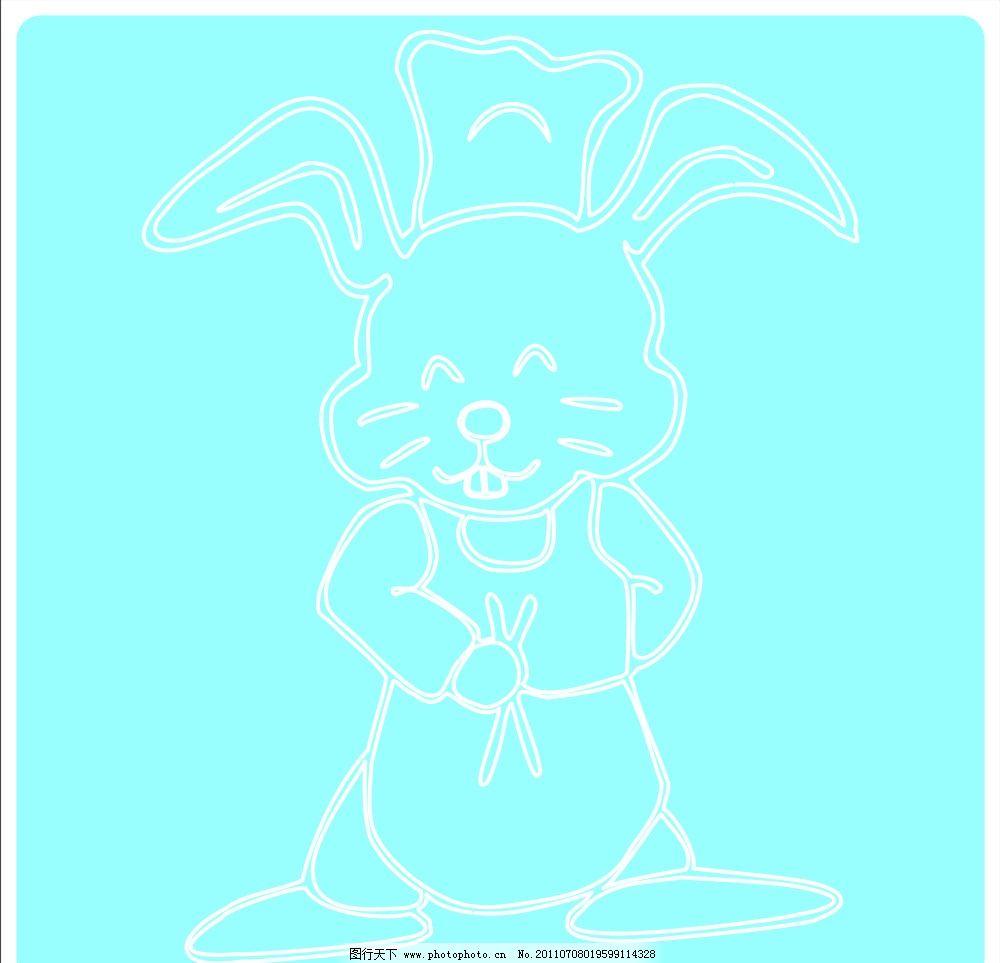 可爱的兔子 小白兔 动物 宠物