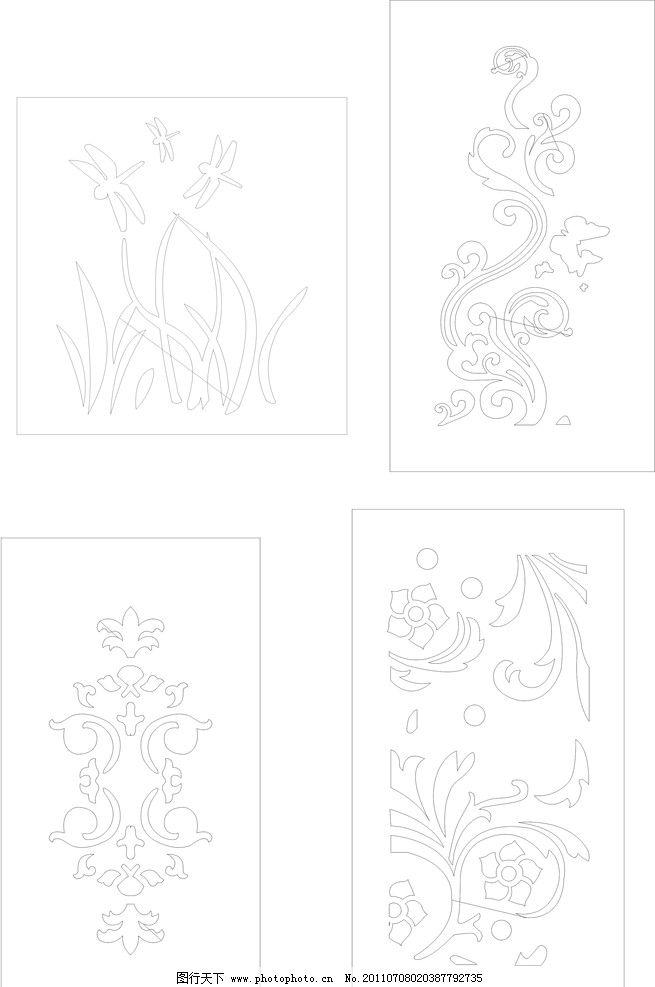 木雕镂空花图片