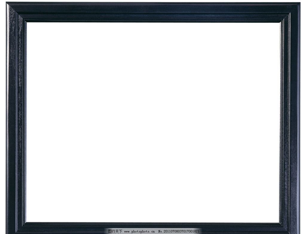 深蓝色木质边框 相框 简单 大方 长方形 生活素材 摄影