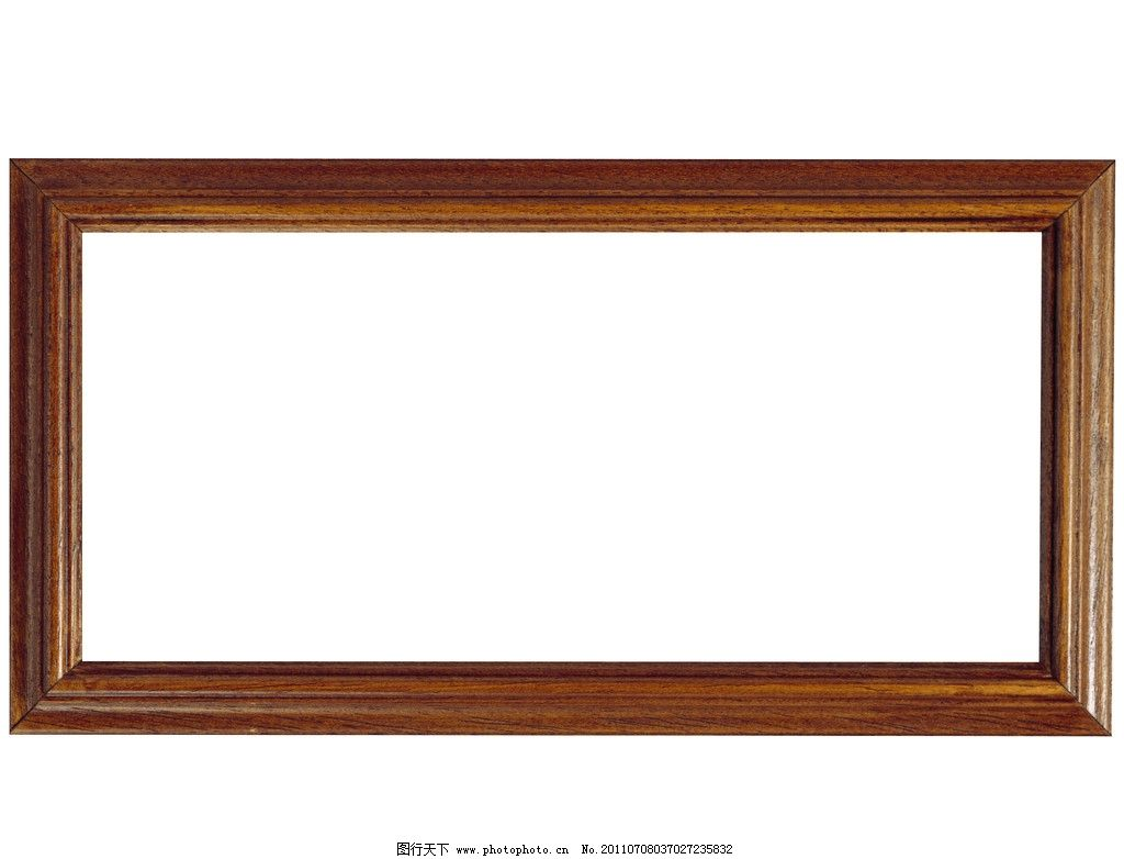 棕色古老木质边框 相框 长方形 生活素材 摄影