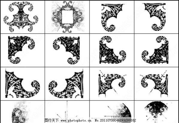 框架装饰花纹 笔刷图片