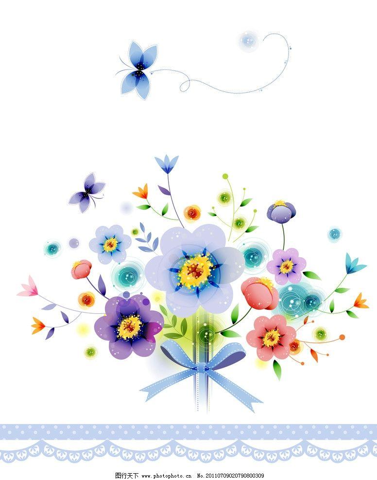 移门 花朵 蝴蝶 花边 蝴蝶结 广告设计 移门图案 底纹边框 设计 1002