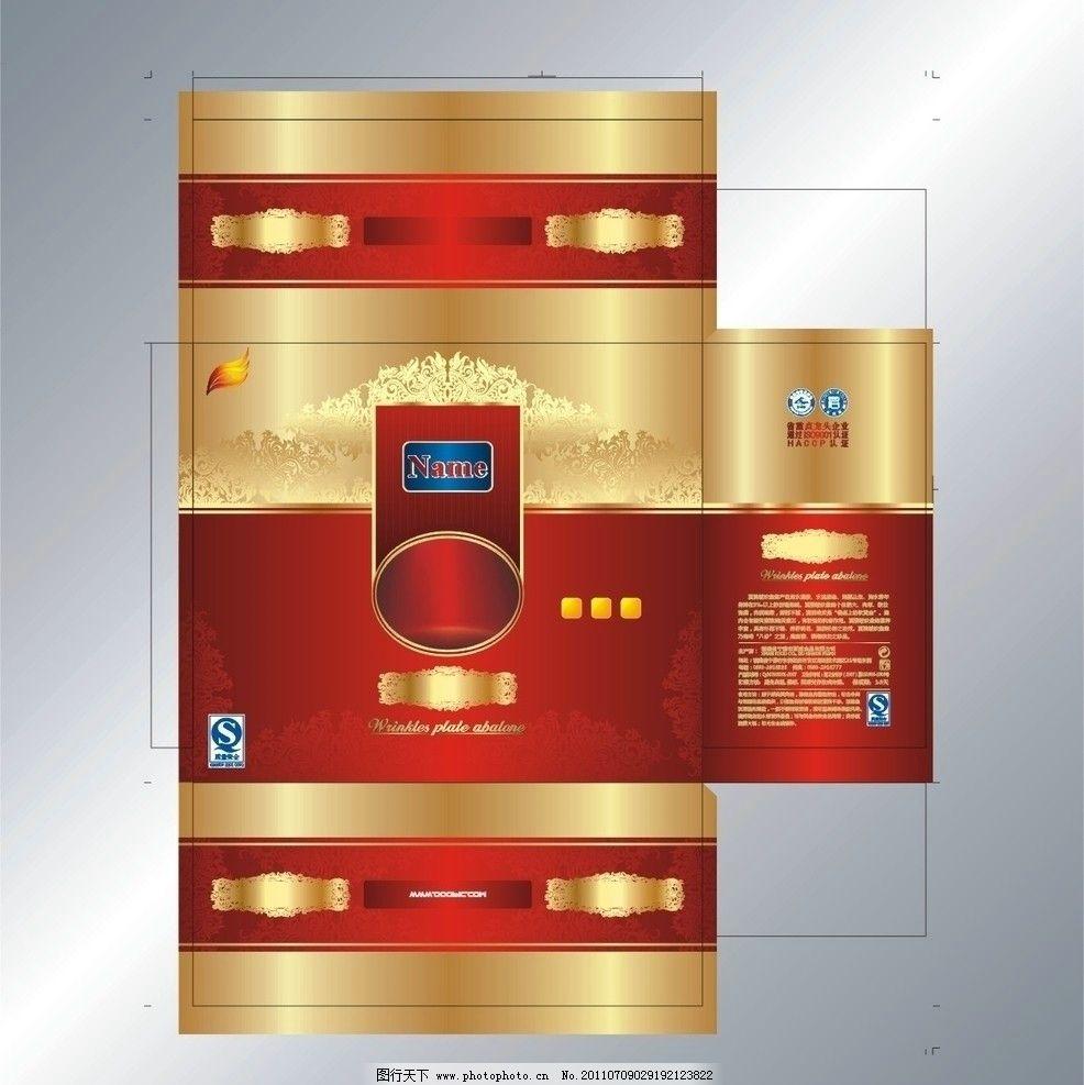 展开包装盒模板 原创包装设计 盒子模板 保健品包装 欧式包装盒模板