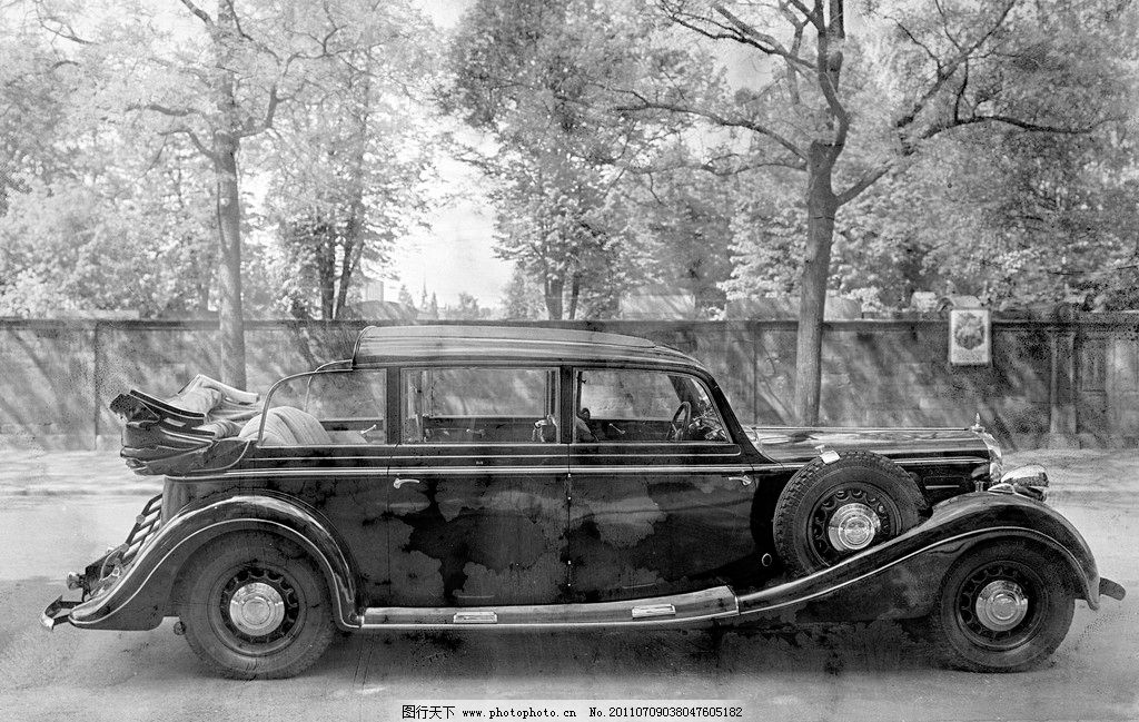 古董老爷车 古典 旧照片 陈旧 翻拍 老照片 迈巴赫 交通工具