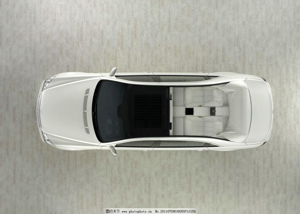 白色豪华迈巴赫车顶 车顶 俯视 俯拍 汽车 名车 豪车 跑车 迈巴赫