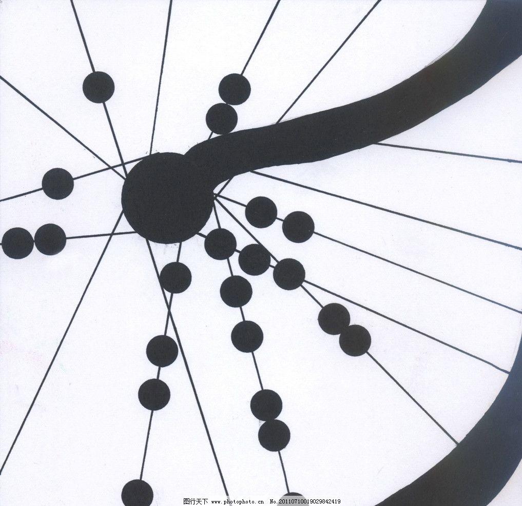 点线面综合构型 平面设计 平面构成 自行车 车轮 局部 绘画书法 文化图片
