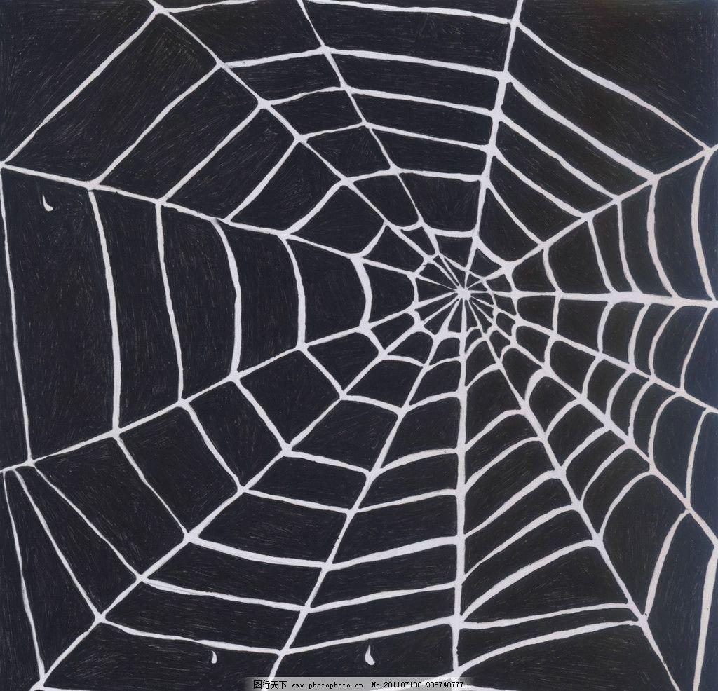 点线面综合构型 平面设计 平面构成 蜘蛛网 黑底 白图 图与底 绘画
