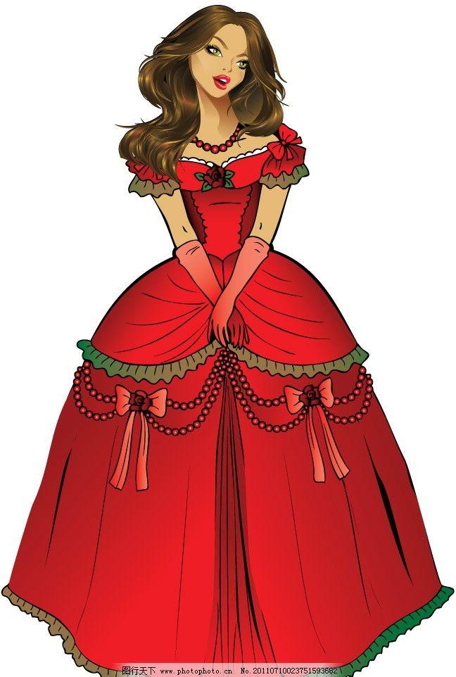 可爱公主 可爱 漂亮 美丽 清纯 天使 公主 女孩 人物 矢量 女孩剪影