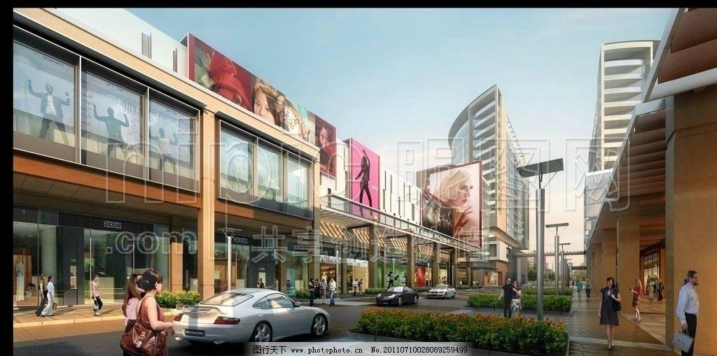 城市效果圖 城市景觀 建筑藍圖 建筑工程 商業效果圖 商業街設計 模型