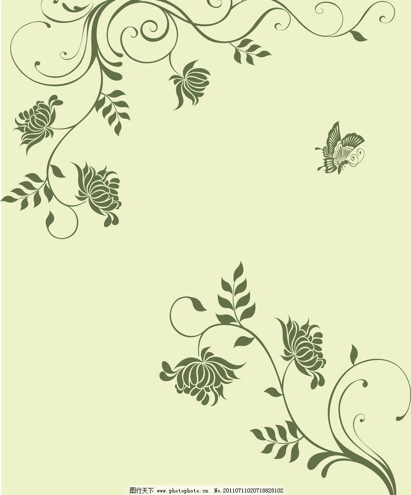 浪漫时光 帝歌三 花纹 蝴蝶 花 欧式风情 线 花藤 设计 移门 移门图案