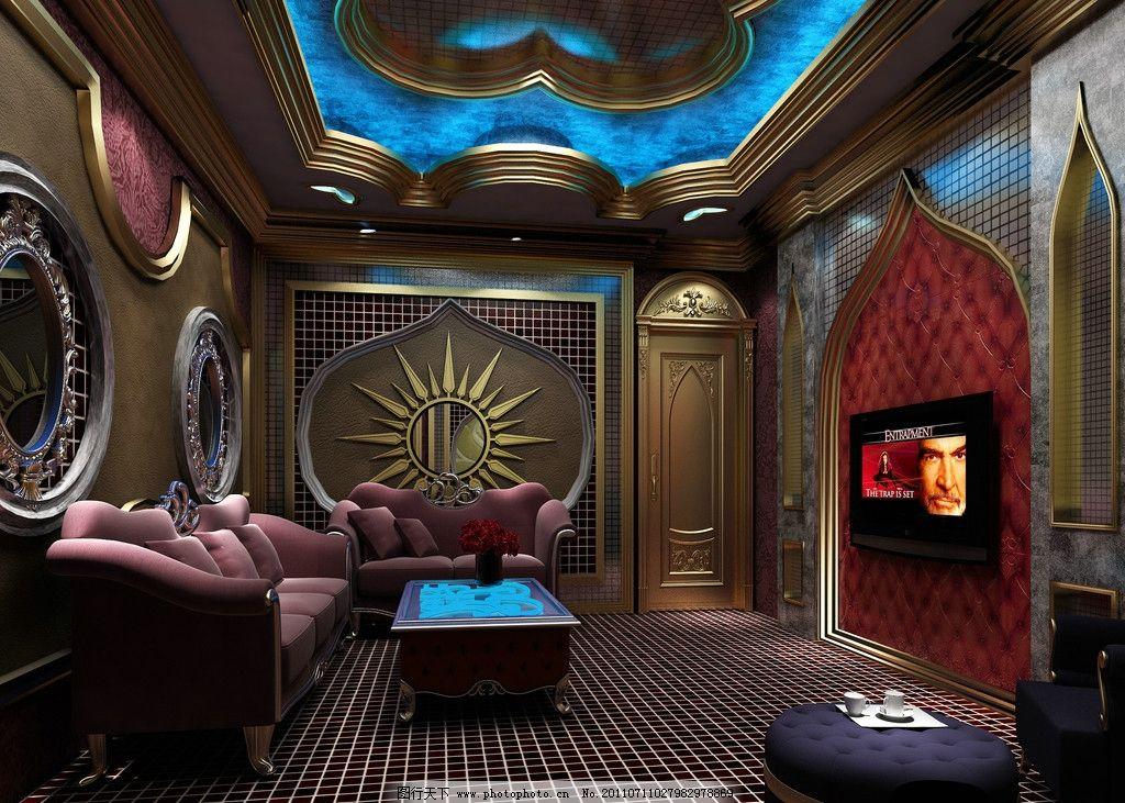ktv包间效果图        沙发 包间 室内设计 环境设计 设计 72dpi jpg