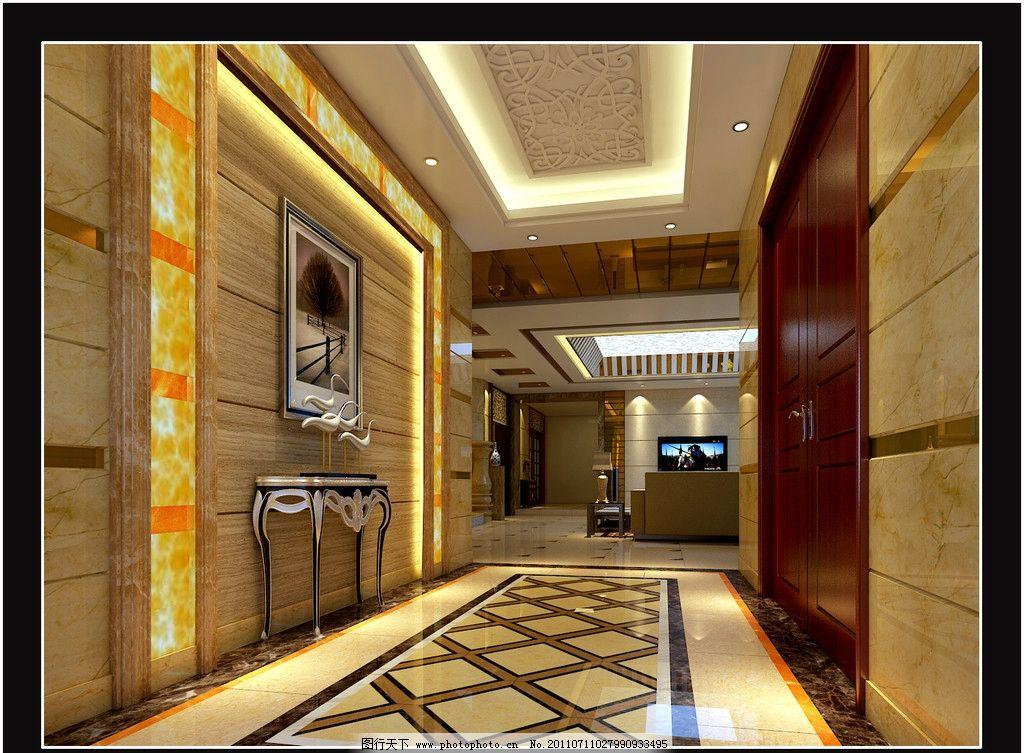 过道设计 别墅过道 室内设计 环境设计 设计 300dpi jpg