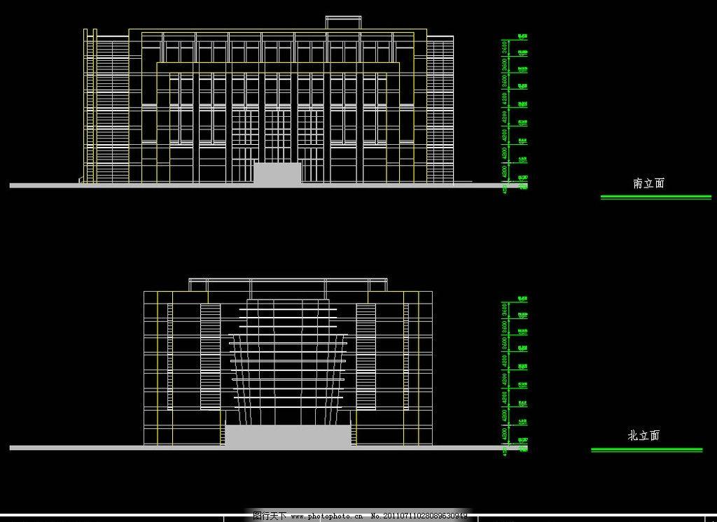 图书馆 图纸 平面图 装修 装饰 施工图 立面图 剖面图 源文件