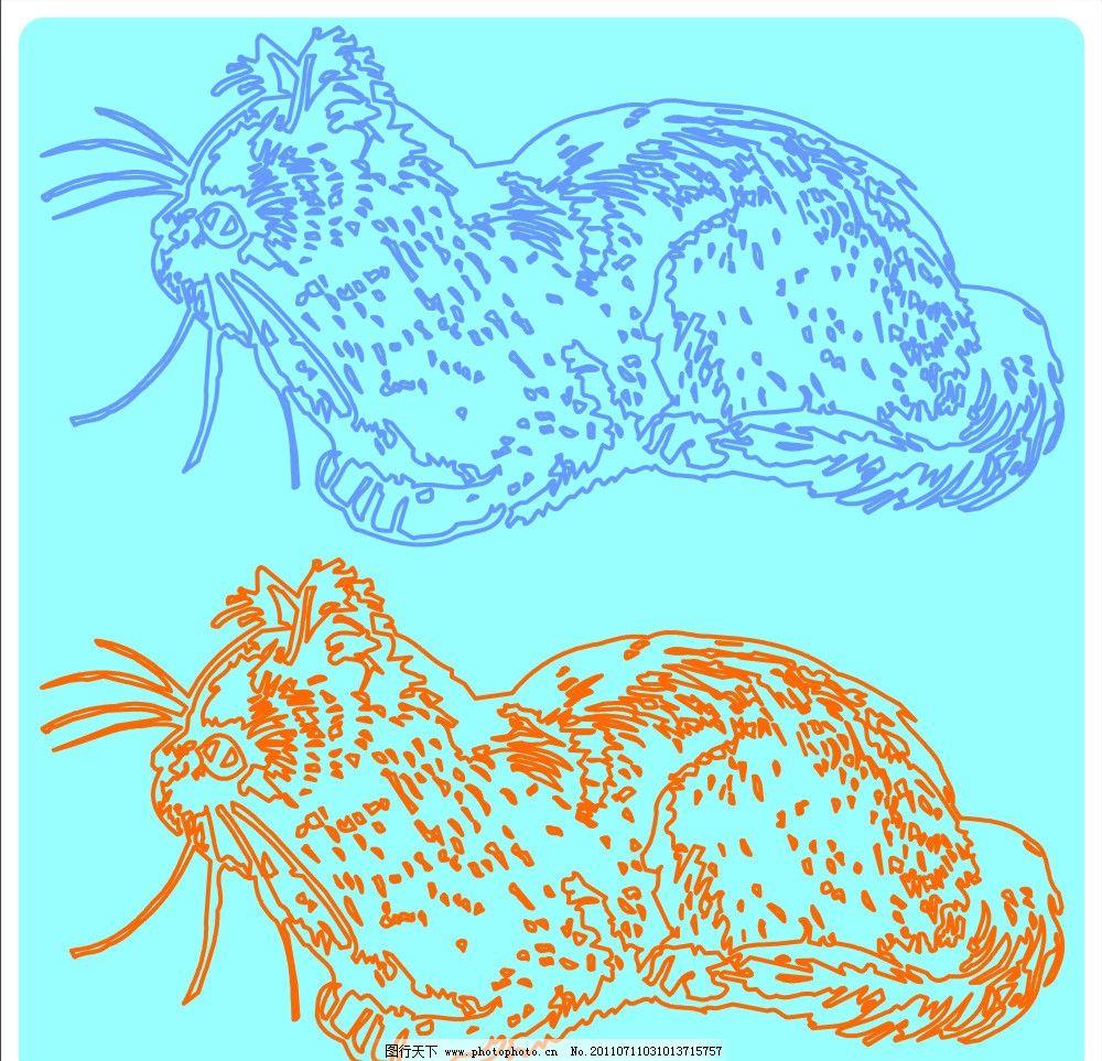 可爱的手绘猫咪 猫 猫咪 动物 卡通 可爱 矢量 cdr 宠物 其他设计