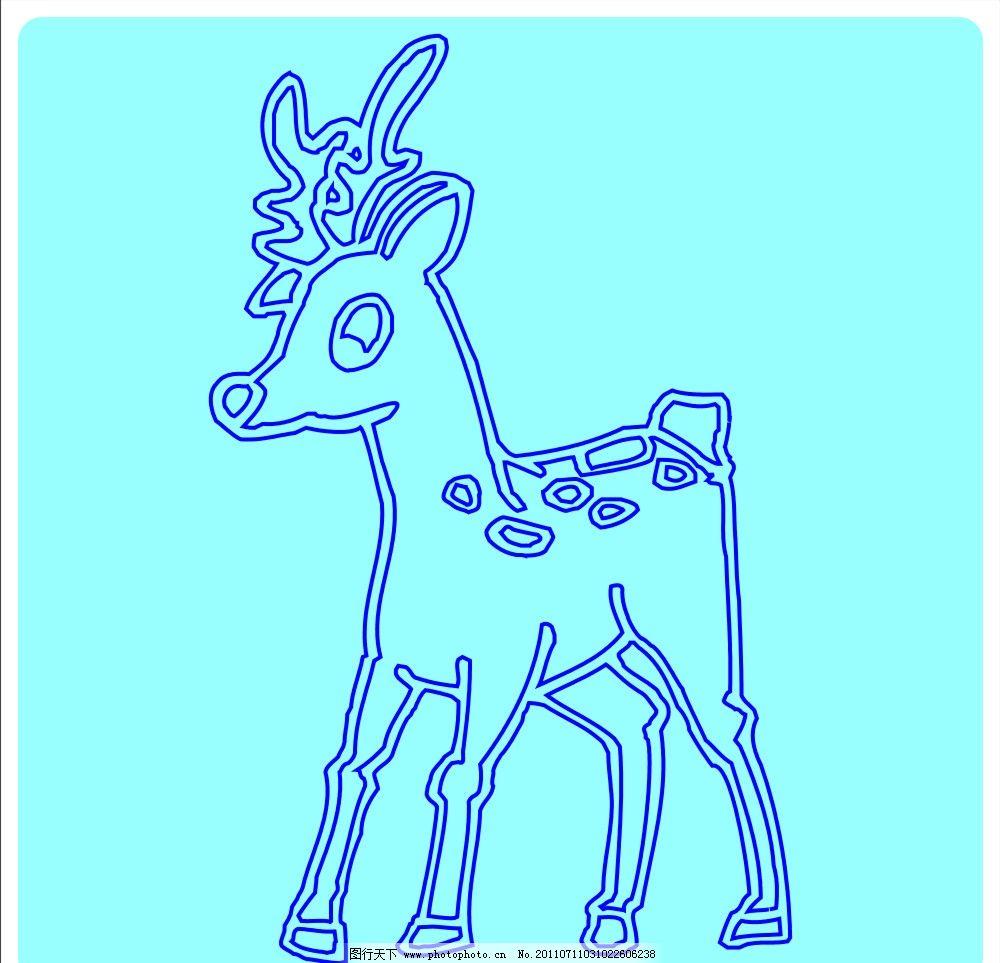 可爱的鹿图片