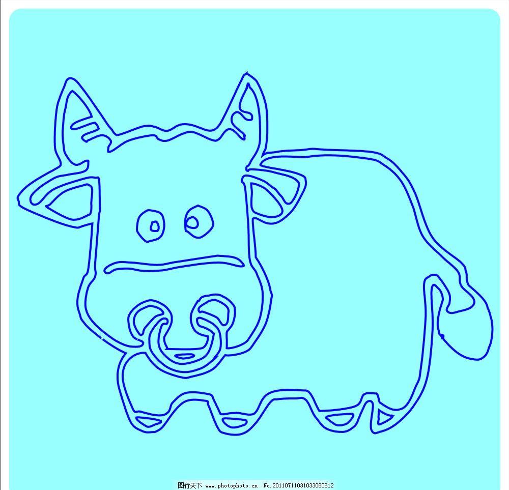 可爱的牛图片