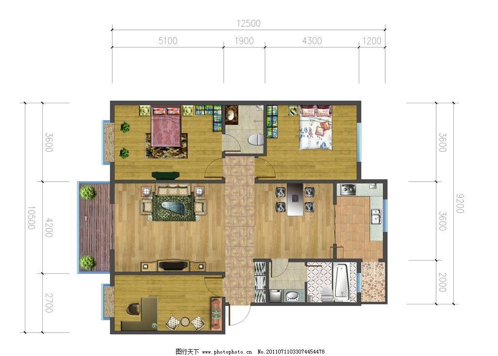 户型图 室内设计 平面布置图 冷色调 家装设计 psd分层素材 源文件 72