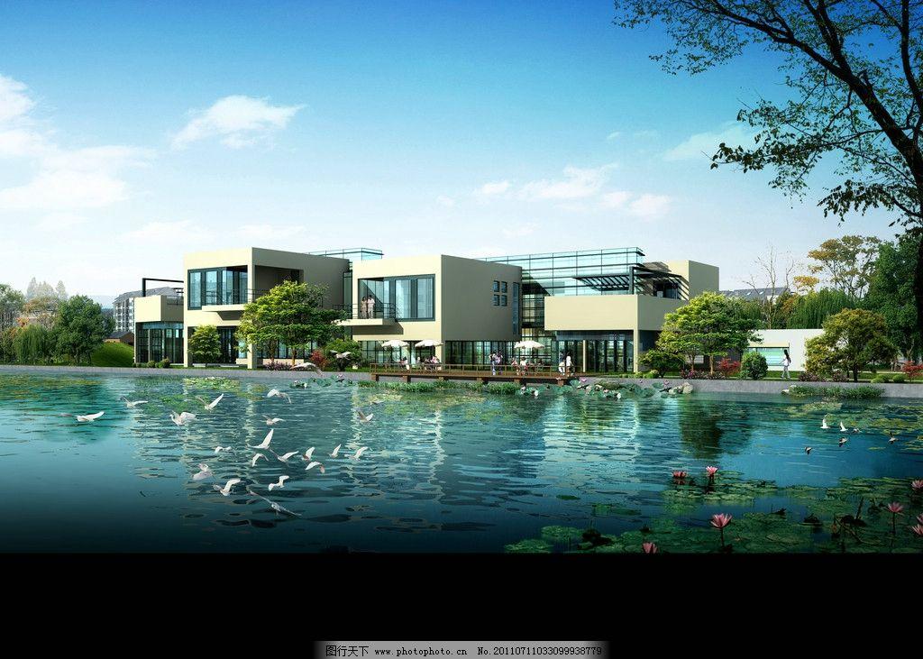 别墅 景观设计 欧式别墅 景观园林设计 环境设计 豪华别墅 海边别墅