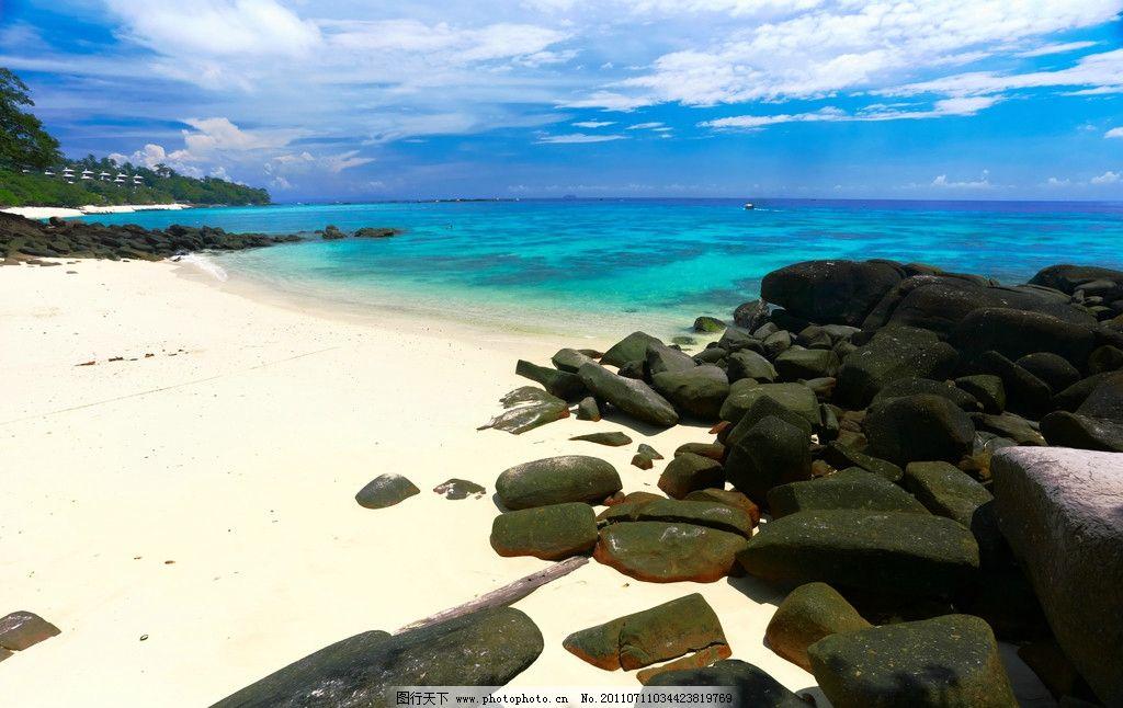 高清沙滩海岸风光图片
