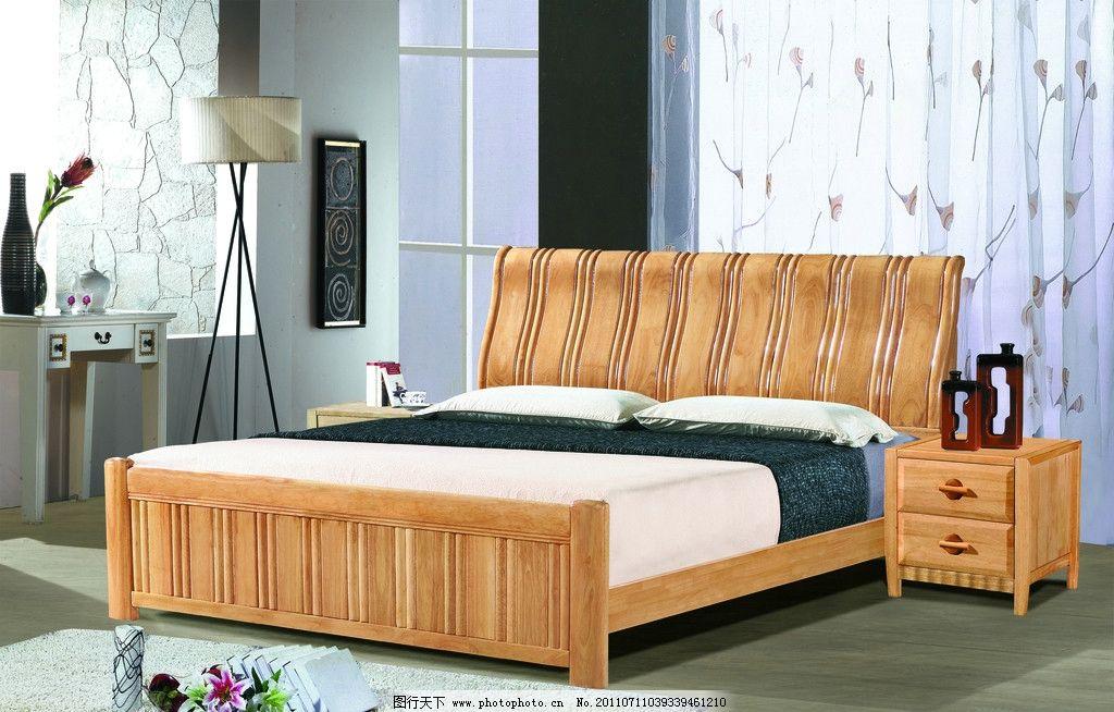 橡木床背景图片