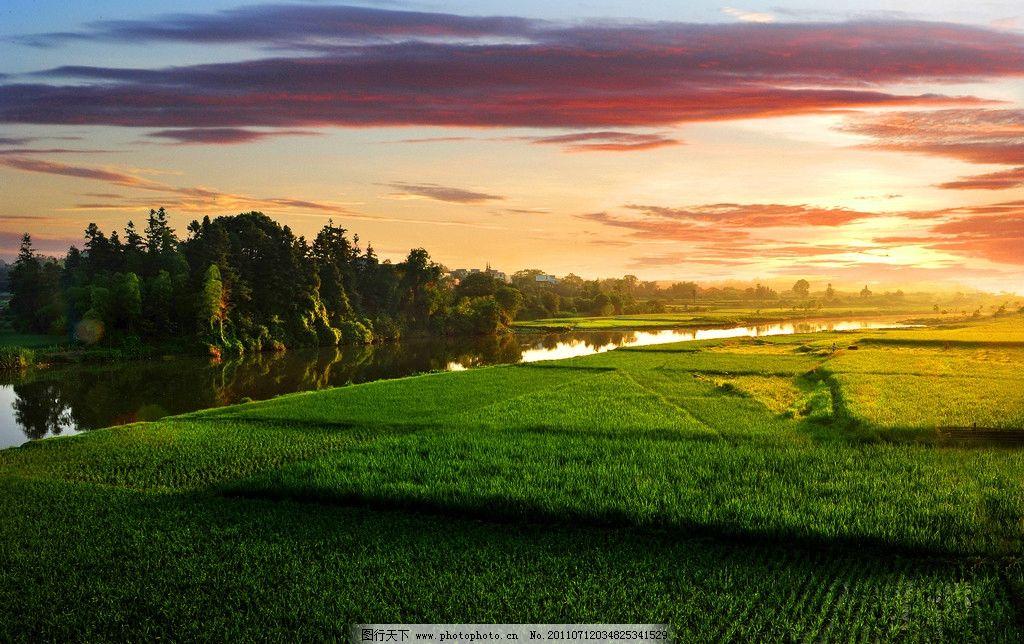 晨光沐浴风景