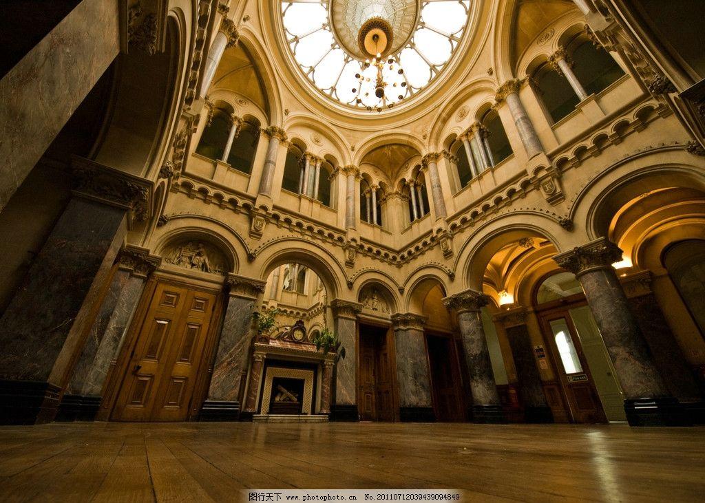城堡大厅 城堡天花板 欧式城堡 欧式装潢 西式古典装潢 建筑摄影