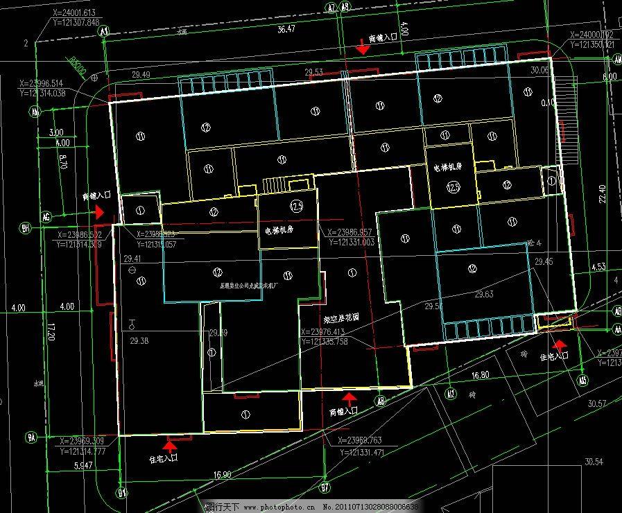 总平面图 图纸 装修 装饰 施工图 室内设计 楼层 住宅楼 宿舍楼