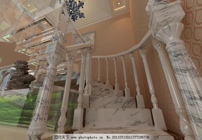 楼梯 假山 阶梯 欧式 石材 室内设计 楼梯设计素材 楼梯模板下载