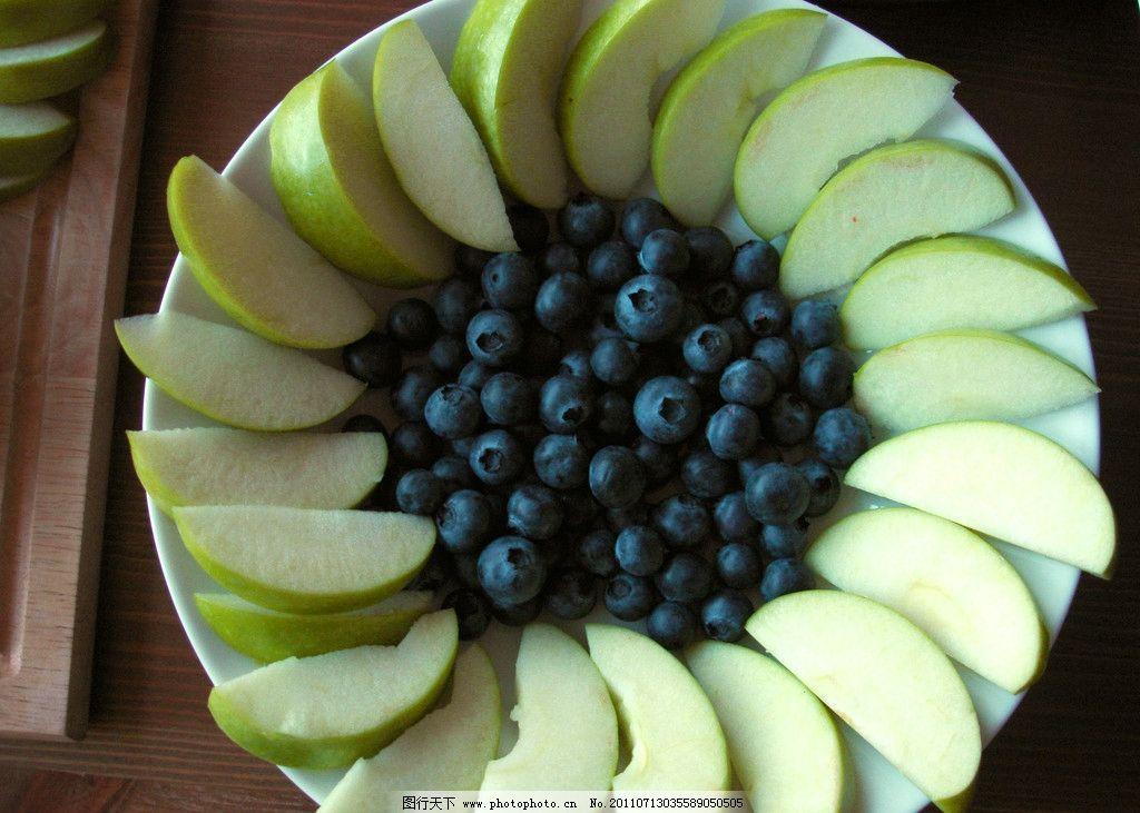 水果拼盘 苹果 青苹果 苹果拼盘 生物世界 摄影
