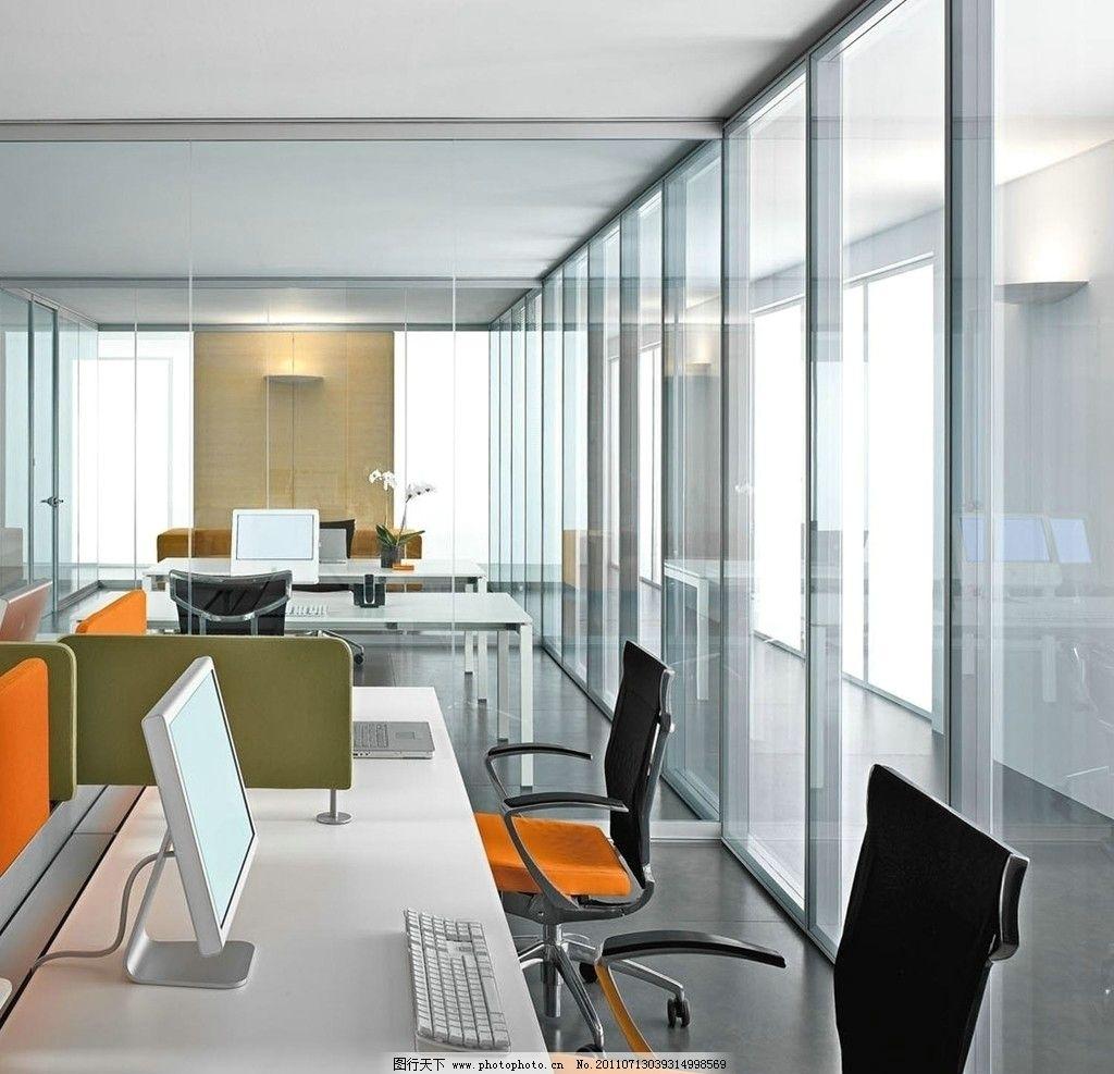 办公室一角 办公室 电脑 落地窗 办公椅 玻璃 室内摄影 建筑园林 摄影