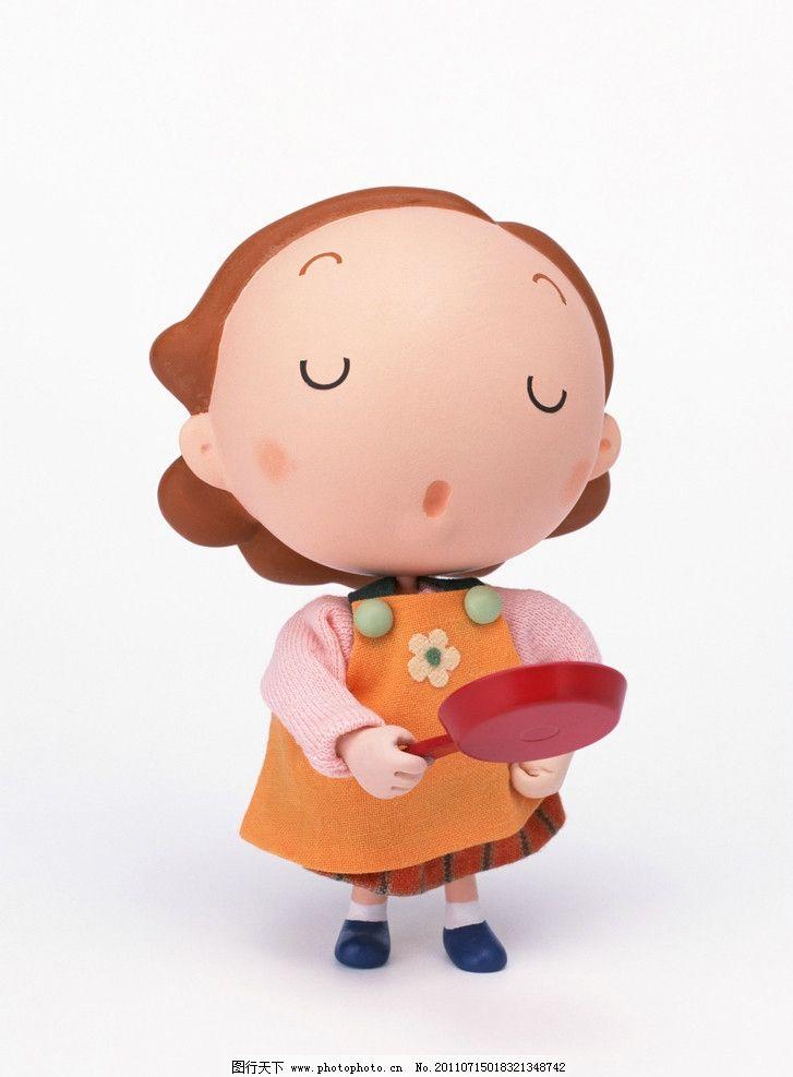 木偶 妈妈 橘色 鞋子 衣服 头发 锅 黑色 粉色 绿色 动漫人物 动漫