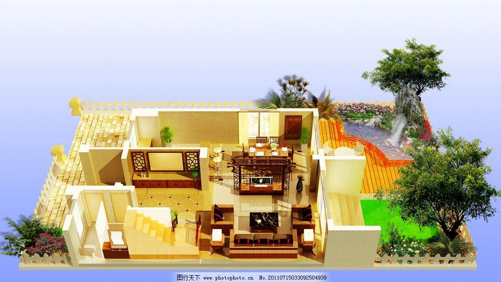 别墅俯视图图片