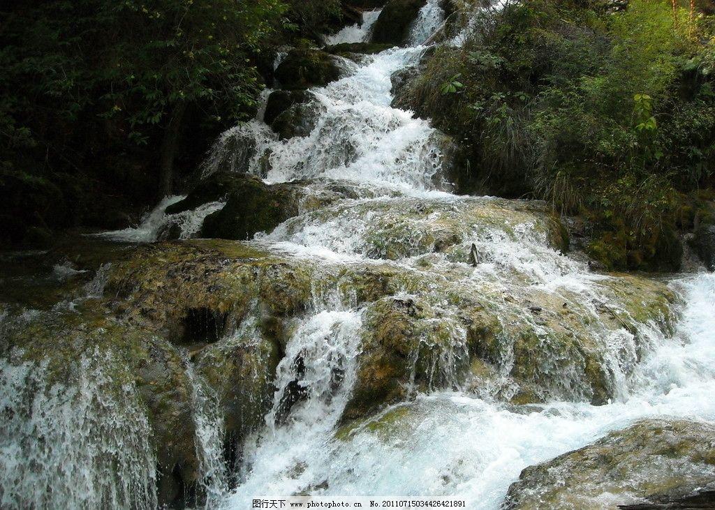 溪水 群山 风景 绿树 流淌 流水 溪流 石头 摄影 大山 自然景观 山水