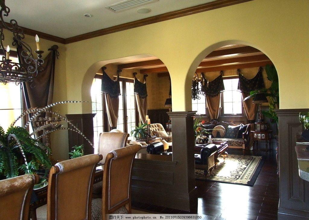 餐廳 飯廳      會客廳 實景 攝影 樣板房 樣品間 綠城 百合新城 美式