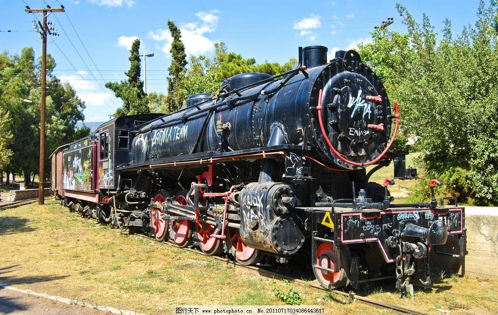 蒸汽火车头图片