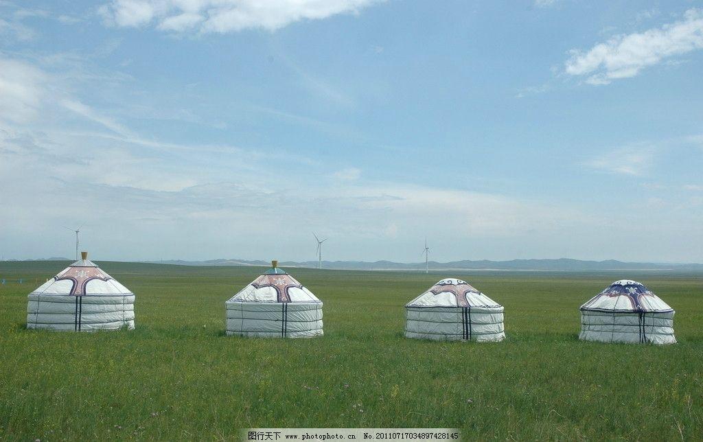 大草原上的蒙古包图片