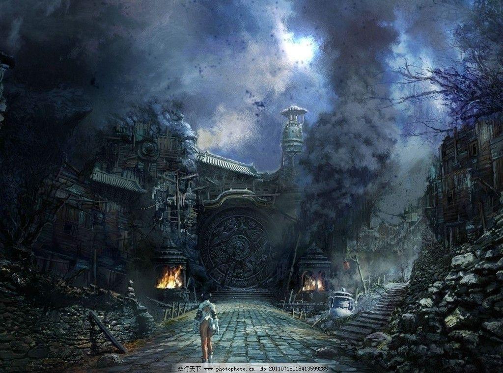 3d场景建筑 游戏场景 场景原画 风景 设计 绘画 剑灵 风景漫画 动漫